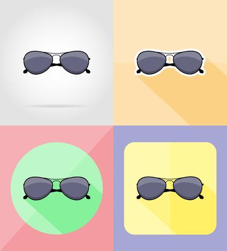 hommes lunettes de soleil plat icônes vector illustration