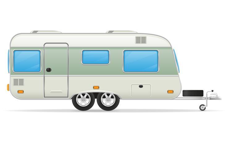 trailer husvagn vektor illustration