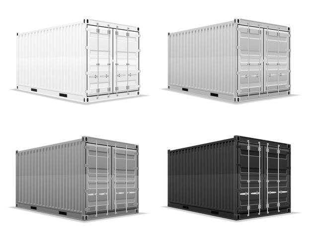 last containert vektor illustration