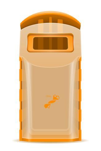 Ilustración de vector de clasificación de residuos de contenedor de plástico