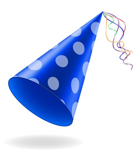 cap for birthday celebrations vector illustration