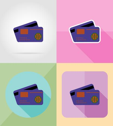 illustrazione di vettore delle icone piane di servizio di finanza