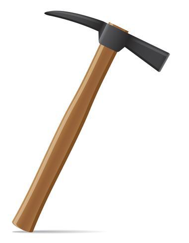 Martillo de herramienta con mango de madera ilustración vectorial