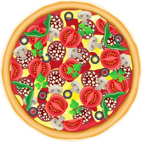 ilustração vetorial de pizza