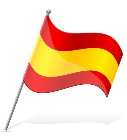 Spanien flagg vektor illustration