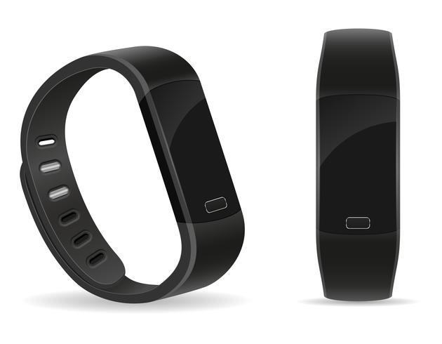 Pulsera digital inteligente para reloj fitness con pantalla táctil stock vector illustration