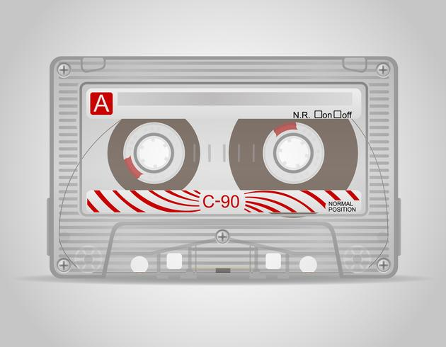 illustration vectorielle de cassette audio