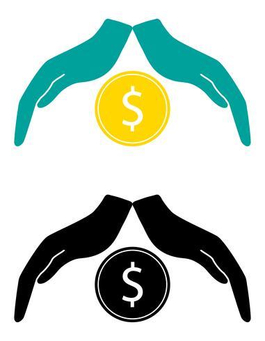 concepto de protección y amor de dinero vector illustration