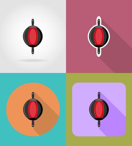 bokszak voor boksen plat pictogrammen vector illustratie