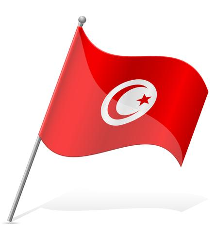 Flagge der Tunesien-Vektor-Illustration