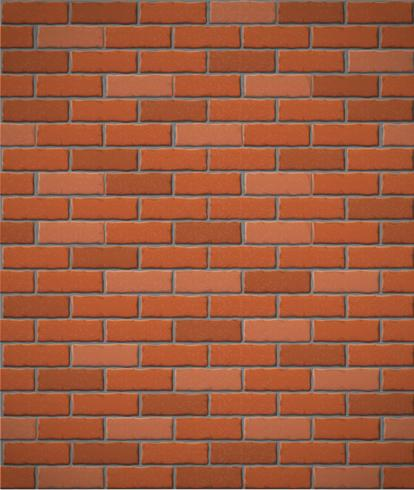 wall of red brick seamless background vector