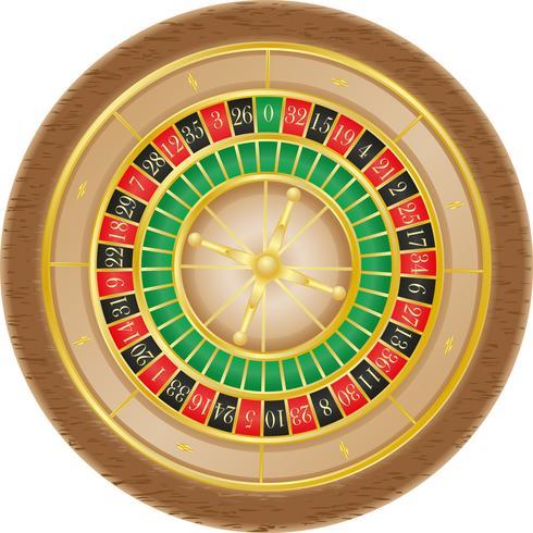 illustration vectorielle de roulette casino