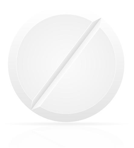 witte medische pillen voor behandeling vectorillustratie