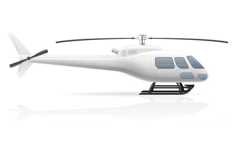 civilian passenger helicopter vector illustration