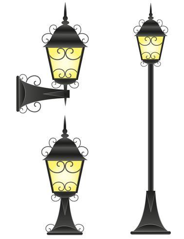 illustration vectorielle de lampadaire