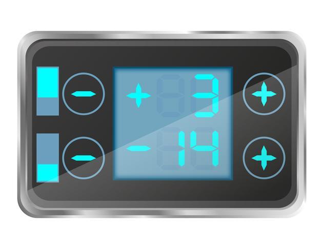 contrôle de température électronique de l'illustration vectorielle réfrigérateur