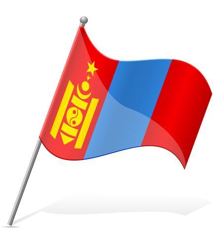Bandera de Mongolia ilustración vectorial