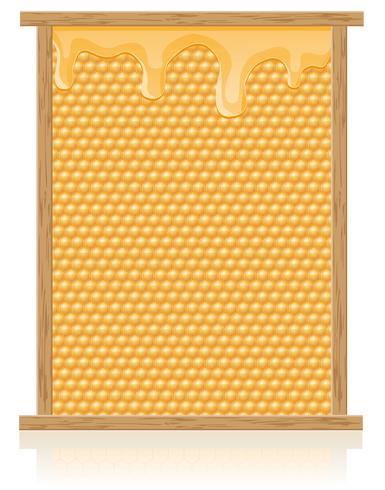 pente de mel na ilustração vetorial de quadro