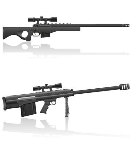 illustration vectorielle de fusil de sniper vecteur