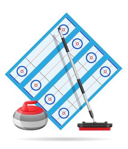 lekplats för curling sport spel vektor illustration