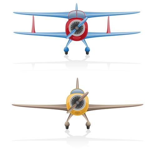 ancienne illustration vectorielle d'avion