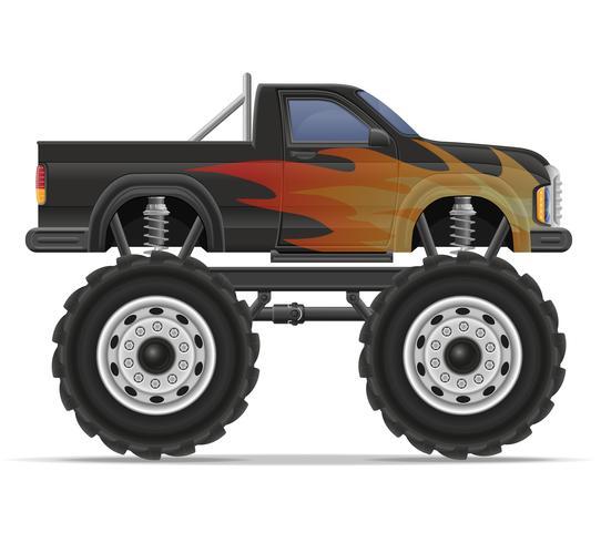 Monster Truck Auto Pickup-Vektor-Illustration