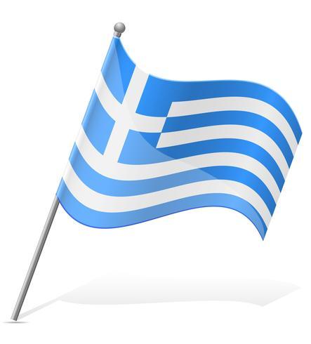 Flagga av Grekland vektor illustration