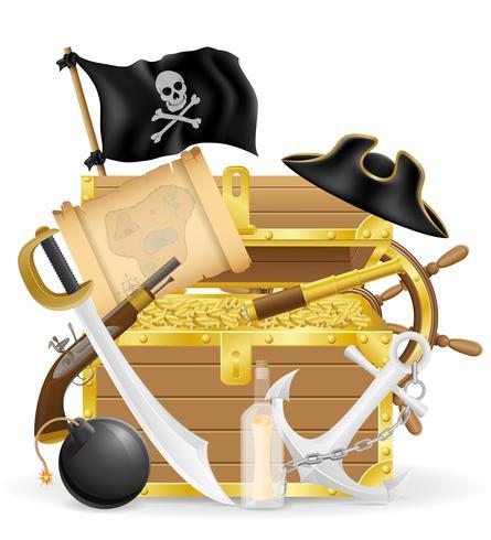 pirate concept icônes vector illustration