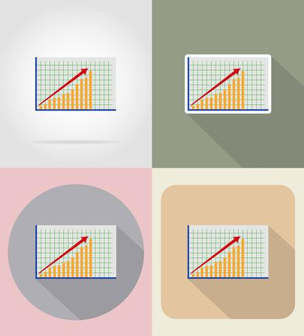 business graphics flat icons vector illustration