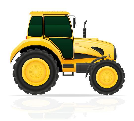 Ilustración de vector de tractor amarillo