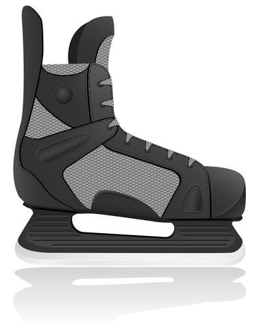 ilustração em vetor de patins de hóquei
