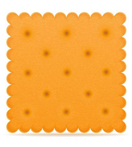 Ilustración de vector de galleta crujiente de galleta