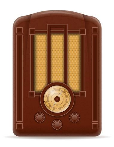 vecchia illustrazione di vettore d'epoca retrò icona radio