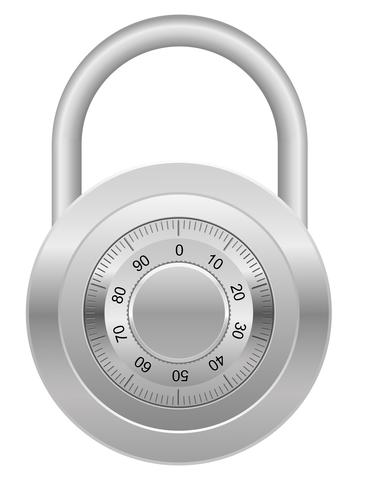 combination padlock vector illustration