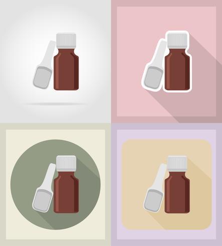 medische objecten en apparatuur plat pictogrammen illustratie