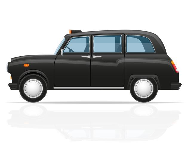Ilustración de vector de taxi de coche de Londres