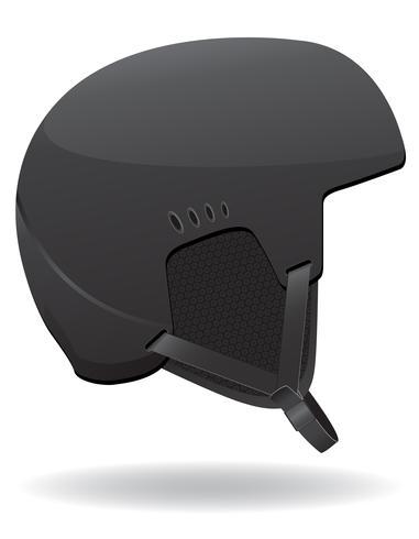 capacete para ilustração vetorial de snowboard