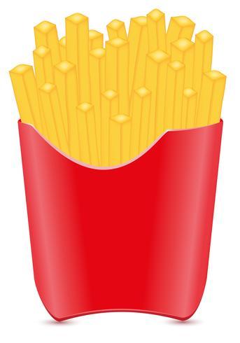 pommes frites potatis vektor illustration