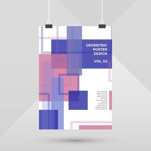 Diseño de cartel geométrico minimalista moderno plano