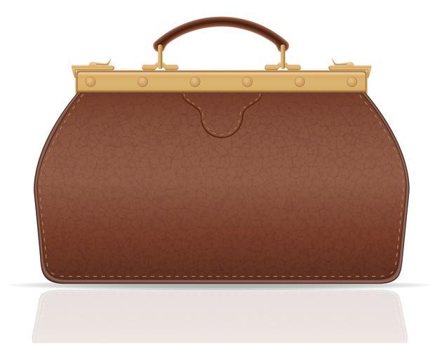 valise en cuir voyage avec illustration vectorielle constipation vecteur