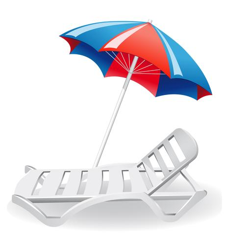 Umdrella parasol et chaise longue