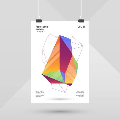 Design piatto colorato poster geometrici