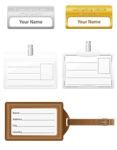 illustrazione di vettore delle icone della carta di identificazione