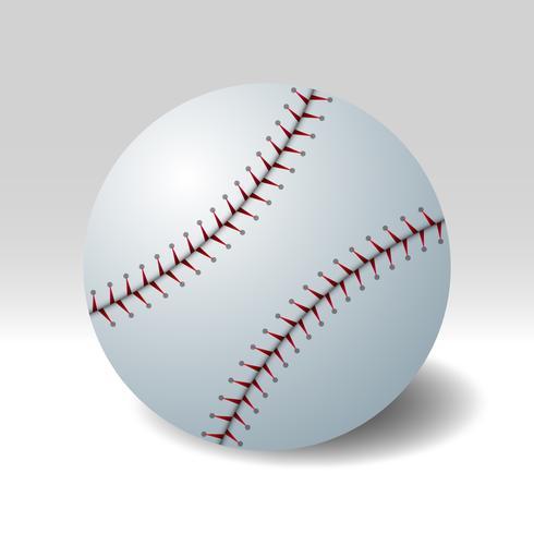 Realistischer Vektor-Baseball lokalisiert auf Hintergrund