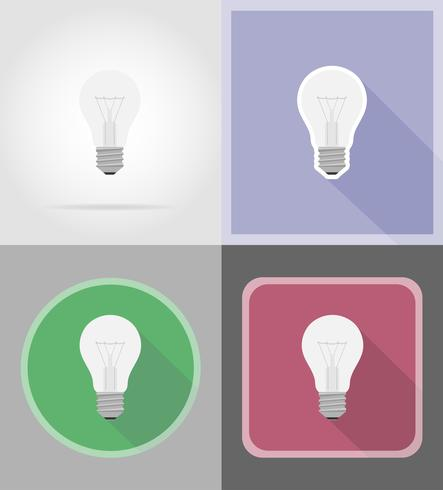 light bulb flat icons vector illustration