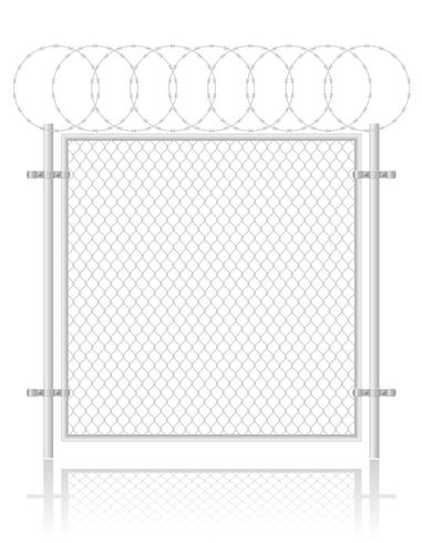recinto fatto ?? dell'illustrazione di vettore della rete metallica