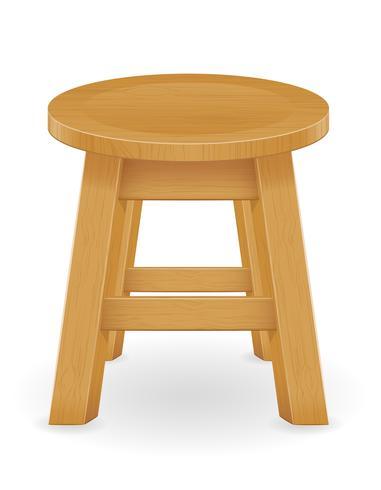 illustrazione vettoriale di mobili in legno sgabello