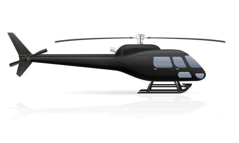 Ilustración de vector de helicóptero de pasajero civil
