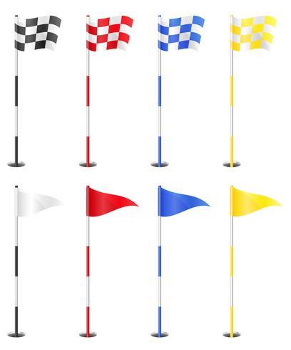 golf flags vector illustration