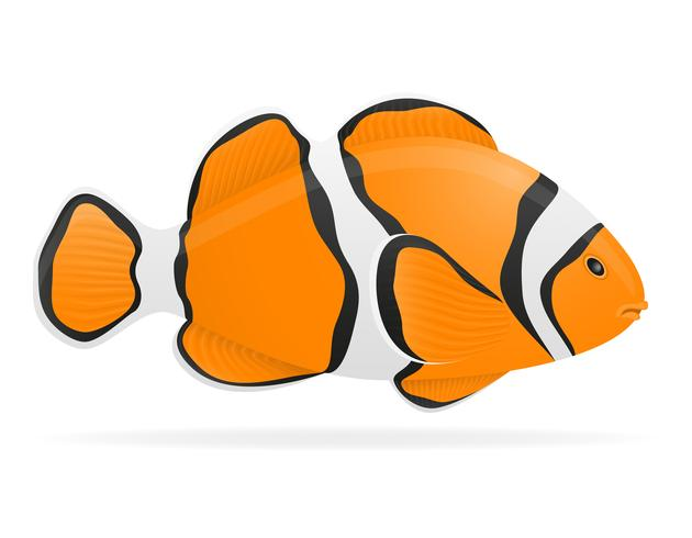 Ilustración de vector de peces de acuario